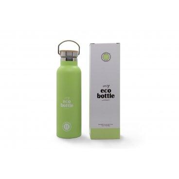my eco Bottiglia acciaio verde  600 ml himalaya