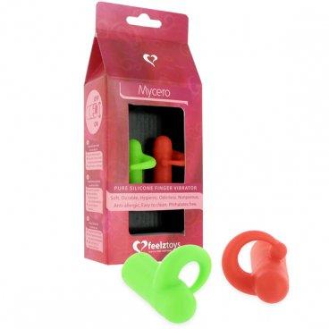 Due vibratori da dito Rosso e Verde Feelztoys