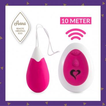 Anna Vibrating Egg remote deep pink  Feelztoys