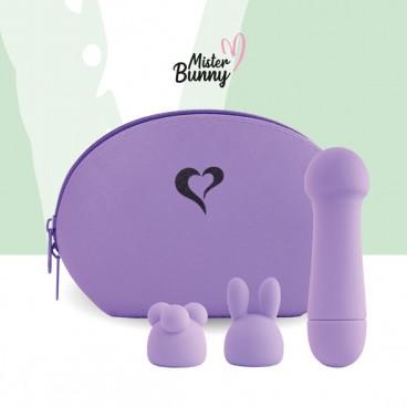 Mister Bunny Massage Vibrator with 2 caps purple  Feelztoys
