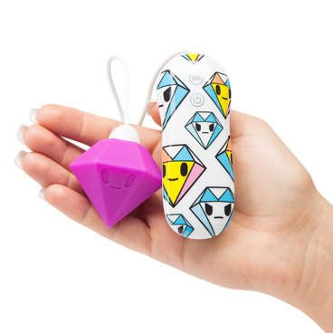 Tokidoki - silicone purple diamond clitoral vibrator