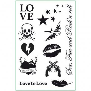 Cosmetica Tatuaggi Rock My Tattoo  Love To Love