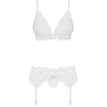 Obsessive  810-seg-2 Set 3-pcs White L/xl