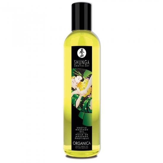 Erotic Art Olio Da Massaggio Erotico Biologico The Verde Shunga