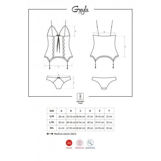 Obsessive  Greyla Corset & Panties L/xl