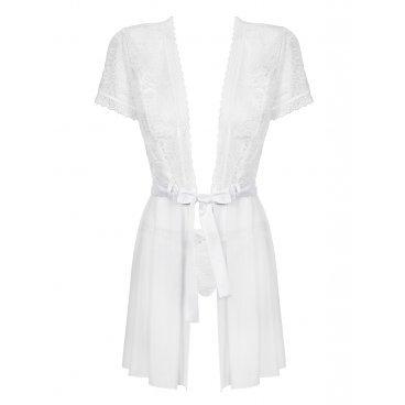 Obsessive  Swanita Robe & Panties White  S/m