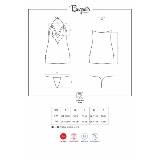 Obsessive  Bisquitta Chemise & Thong L/xl