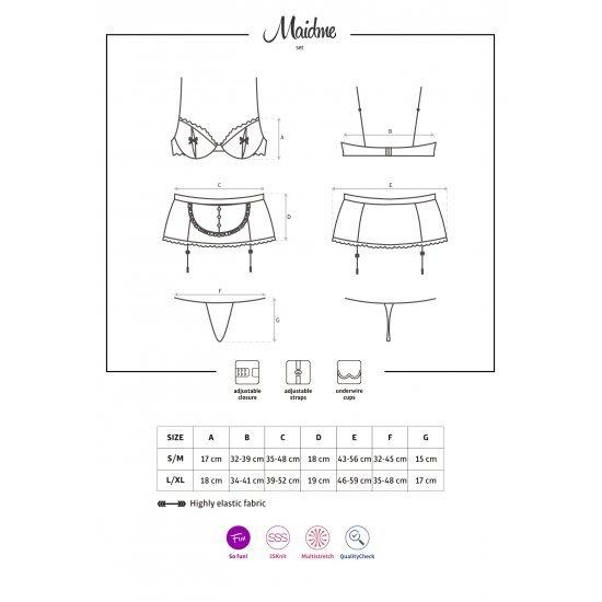 Obsessive  Maidme Set 5-pcs  S/m