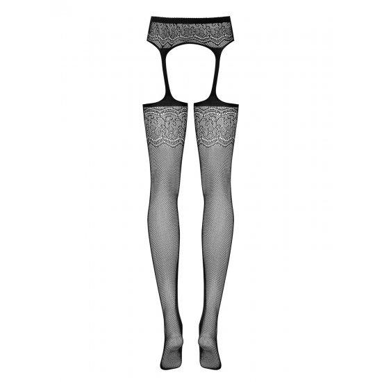 Garter Stockings S207 Nera S/m/l Obsessive