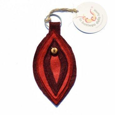Portachiavi Mandorla - Vulva - Rosso