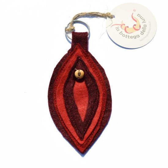 Portachiavi Artigianale Vulva Rosso