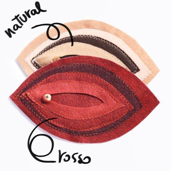 Sottotazza Mandorla (set Da 2) - Vulva - Natural
